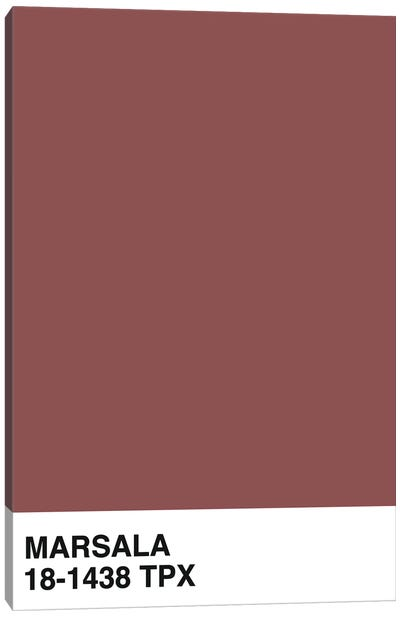 Marsala 18-1438 TPX Canvas Art Print