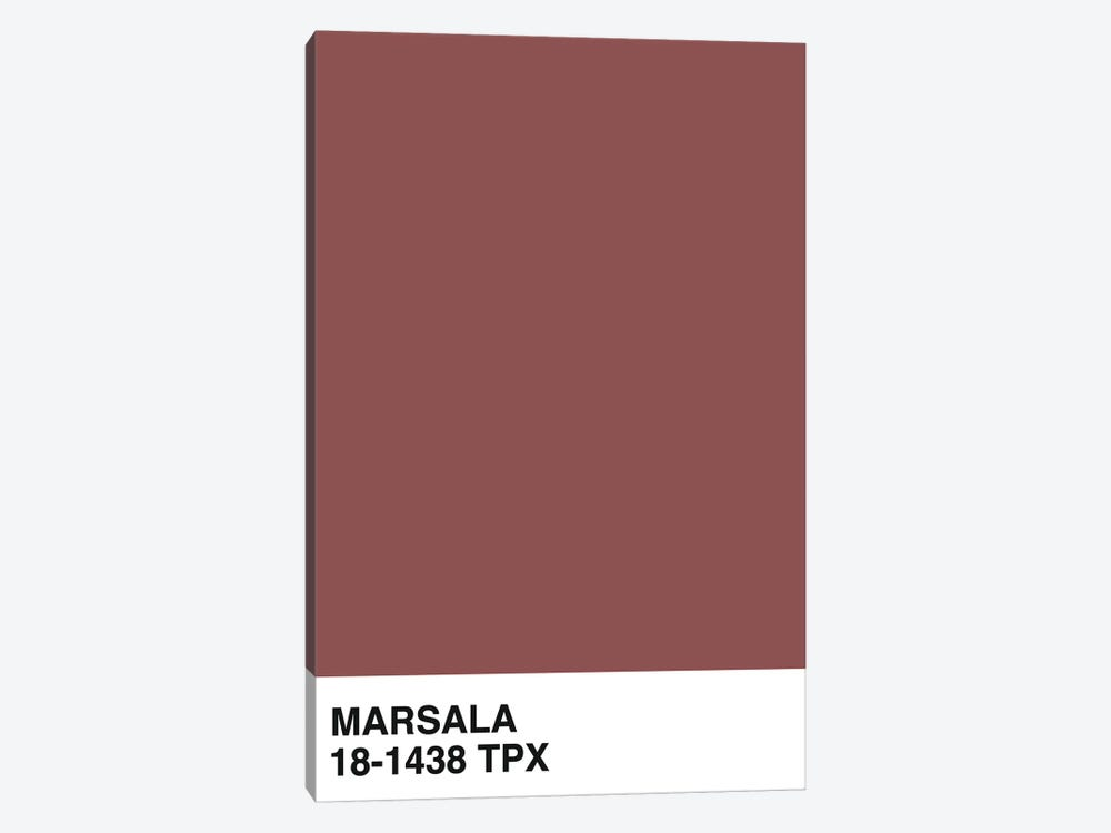 Marsala 18-1438 TPX by Honeymoon Hotel 1-piece Canvas Art Print