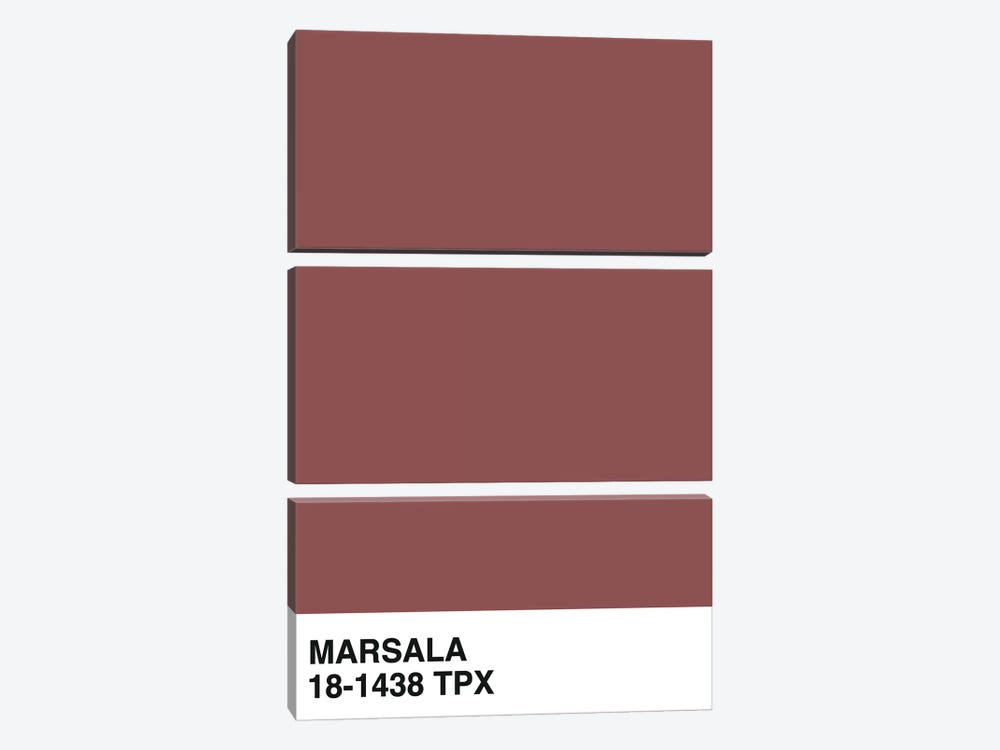 Marsala 18-1438 TPX by Honeymoon Hotel 3-piece Art Print