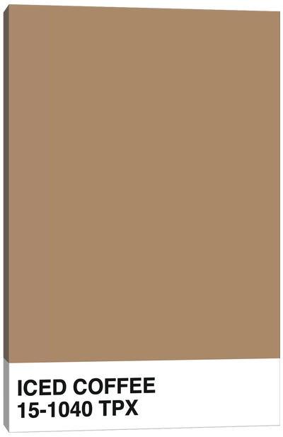 Iced Coffee 15-1040 TPX Canvas Art Print
