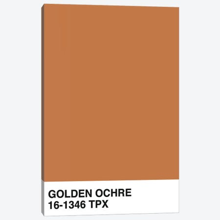 Golden Ochre 16-1346 TPX Canvas Print #HON286} by Honeymoon Hotel Art Print