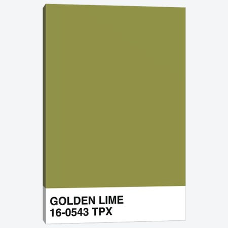Golden Lime 16-0543 TPX 3-Piece Canvas #HON288} by Honeymoon Hotel Canvas Wall Art
