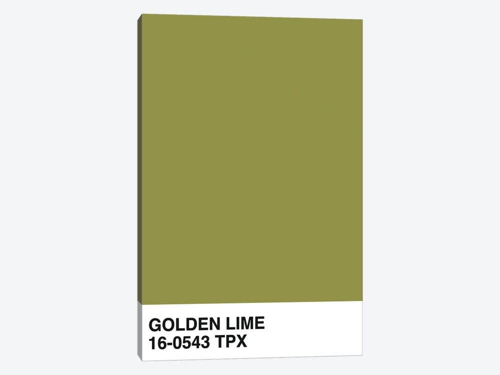 Golden Lime 16-0543 TPX by Honeymoon Hotel 1-piece Canvas Print