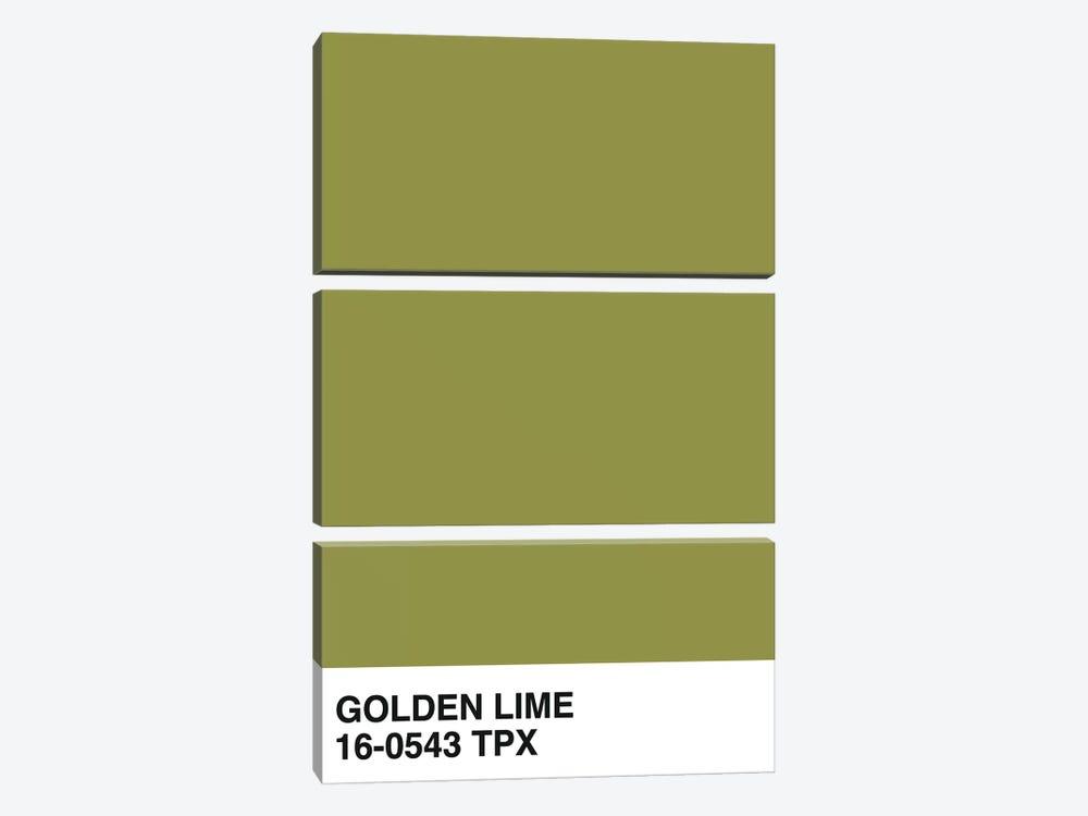 Golden Lime 16-0543 TPX by Honeymoon Hotel 3-piece Canvas Art Print