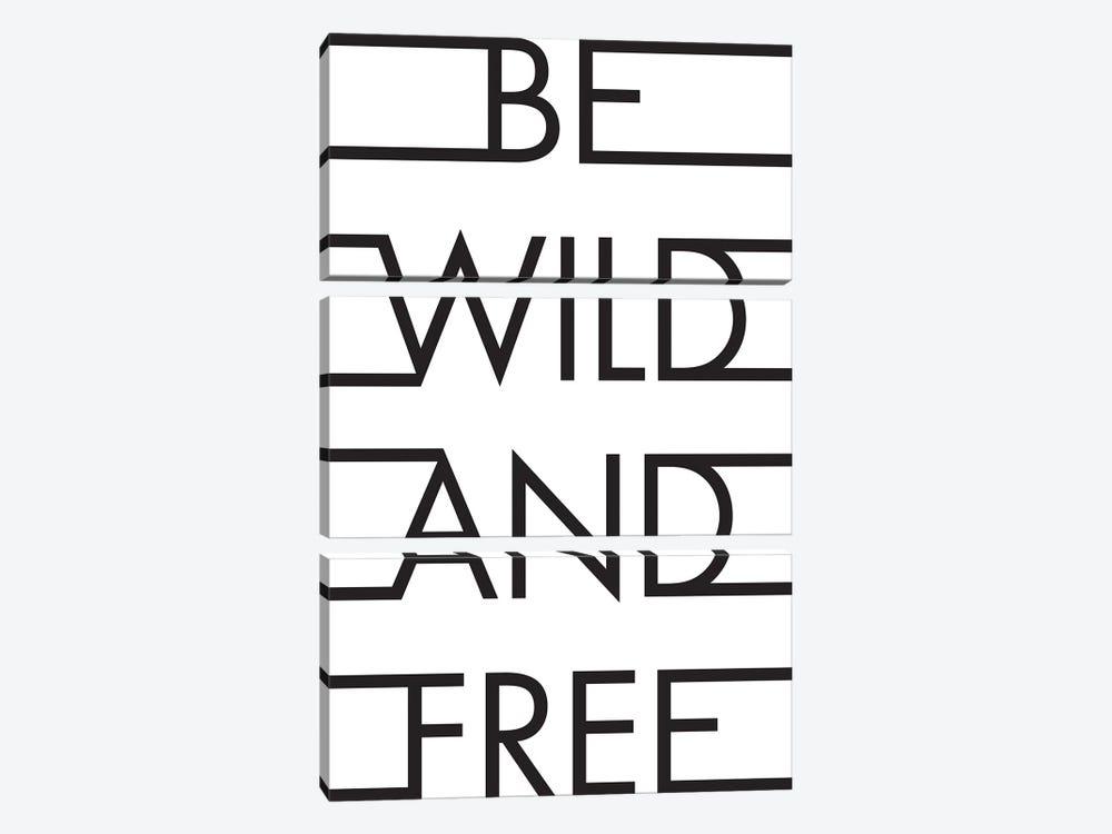 Be Wild & Free by Honeymoon Hotel 3-piece Canvas Wall Art