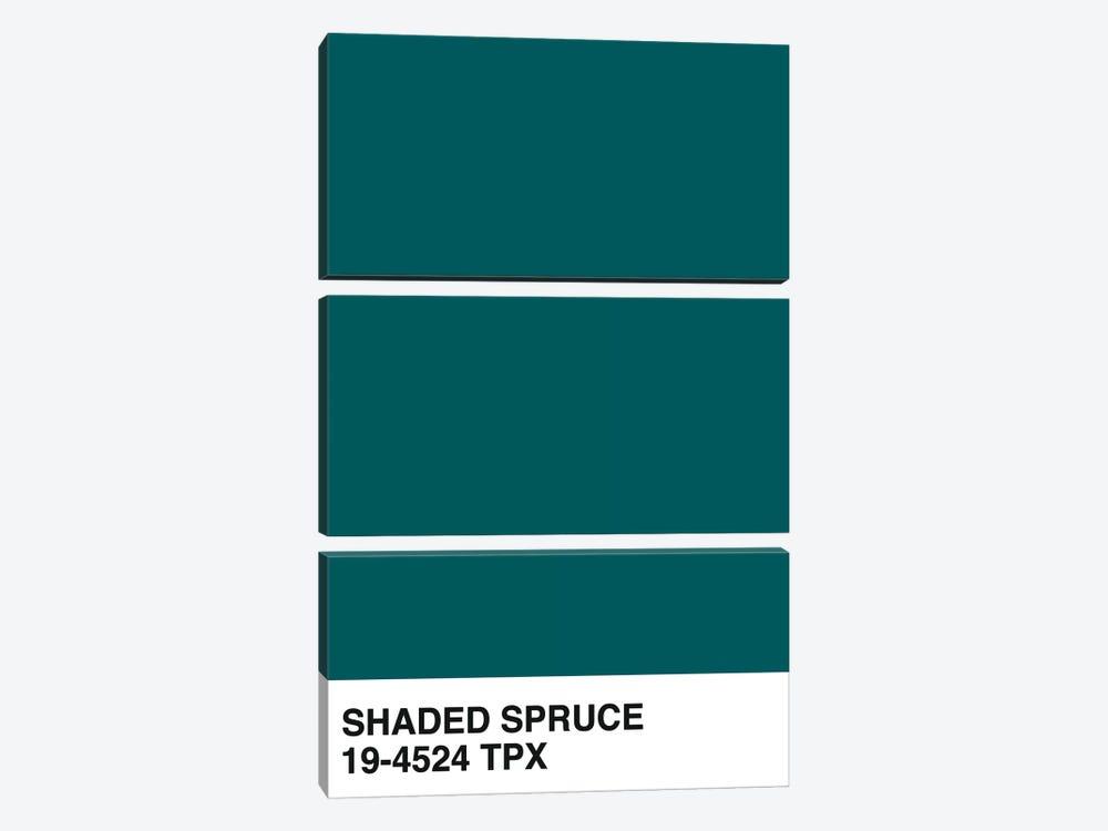 Shaded Spruce 19-4524 TPX by Honeymoon Hotel 3-piece Canvas Artwork