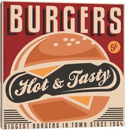Burgers Here Canvas Art Print