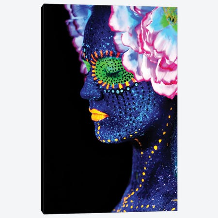 Fleuro Glo Canvas Print #HON296} by Honeymoon Hotel Canvas Art