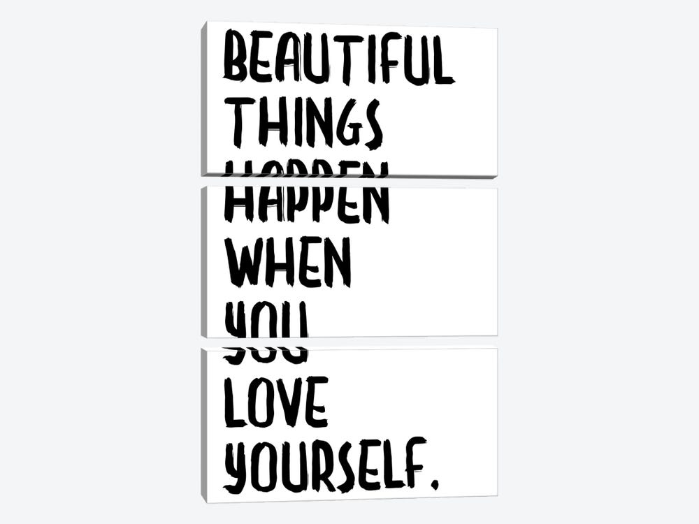 Beautiful Things Happen by Honeymoon Hotel 3-piece Canvas Print