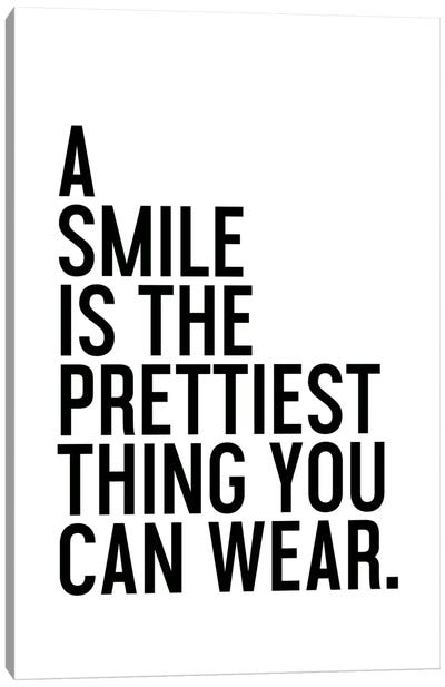 A Smile Is The Prettiest Canvas Art Print
