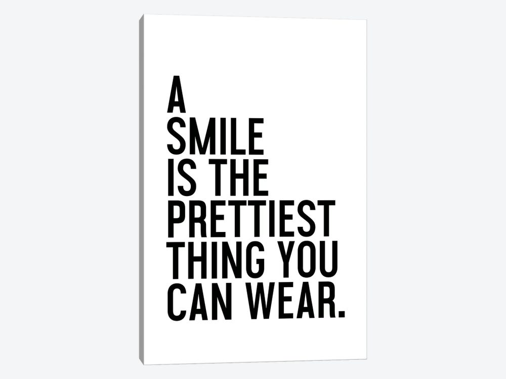 A Smile Is The Prettiest by Honeymoon Hotel 1-piece Canvas Wall Art