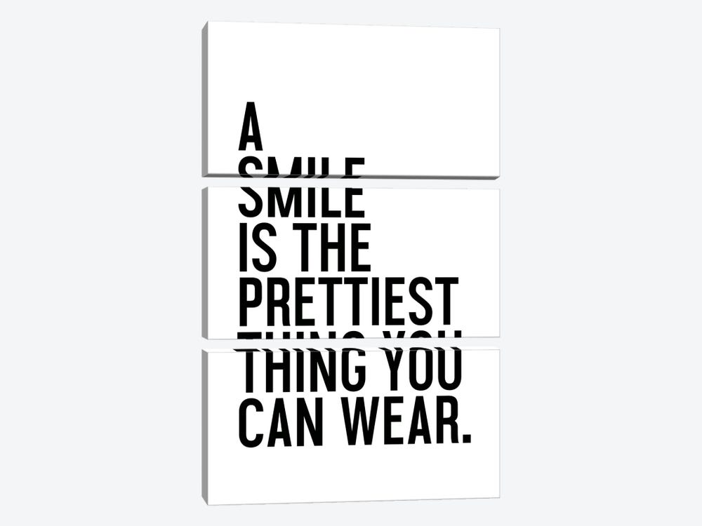 A Smile Is The Prettiest by Honeymoon Hotel 3-piece Canvas Art