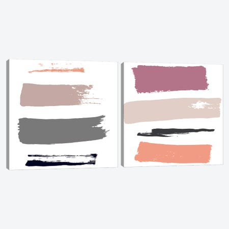 Color Swatches Diptych Canvas Print Set #HON2HSET001} by Honeymoon Hotel Art Print
