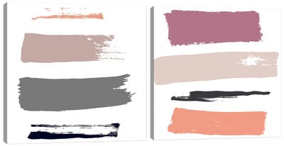 Color Swatches Diptych Canvas Art Print