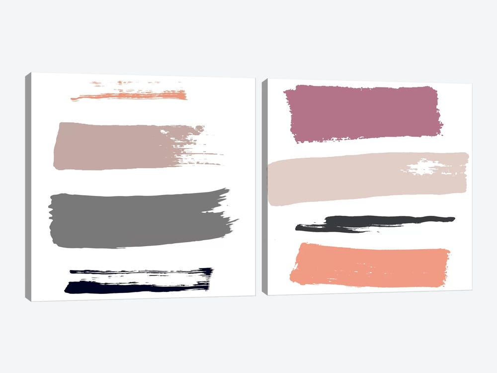 Color Swatches Diptych by Honeymoon Hotel 2-piece Canvas Art Print