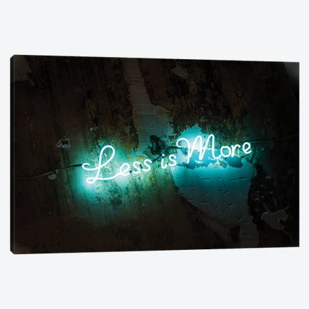 Less Is More Canvas Print #HON303} by Honeymoon Hotel Canvas Art Print