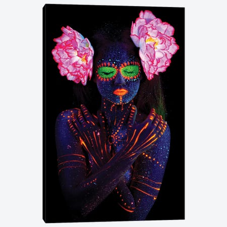 Neon Solitude 3-Piece Canvas #HON309} by Honeymoon Hotel Canvas Print