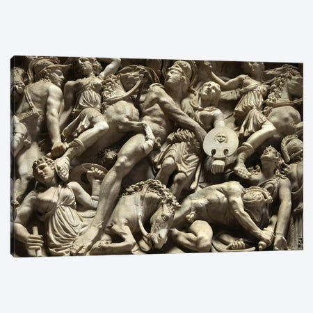 Sculpted Battle Canvas Print #HON313} by Honeymoon Hotel Canvas Art