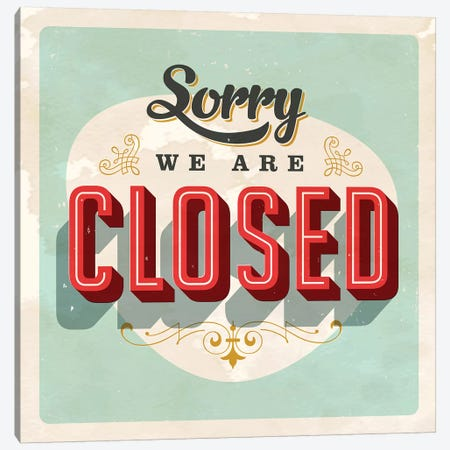 Sorry We're Closed 3-Piece Canvas #HON314} by Honeymoon Hotel Canvas Print