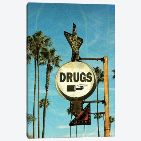 Drugs Canvas Print #HON325} by Honeymoon Hotel Canvas Wall Art