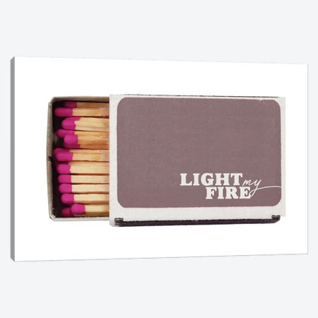 Light My Fire Canvas Print #HON328} by Honeymoon Hotel Canvas Print