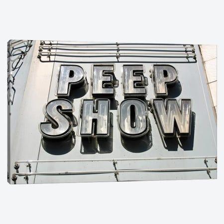 Peep Show Canvas Print #HON330} by Honeymoon Hotel Canvas Art