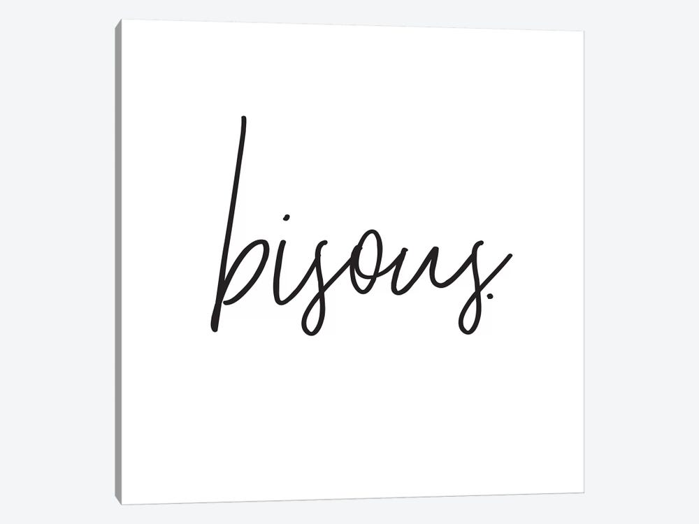 Bisous. by Honeymoon Hotel 1-piece Canvas Wall Art