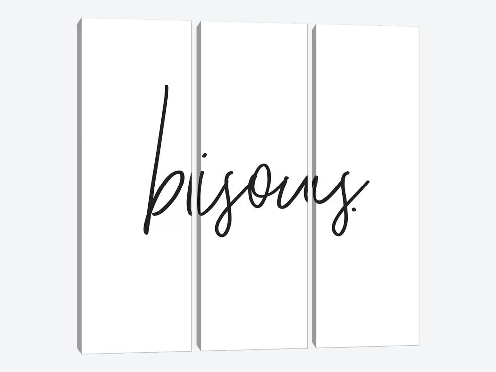 Bisous. by Honeymoon Hotel 3-piece Canvas Wall Art