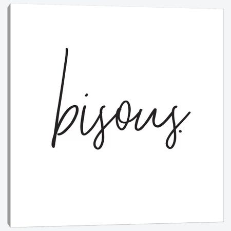 Bisous. Canvas Print #HON33} by Honeymoon Hotel Art Print