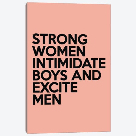 Strong Women Canvas Print #HON352} by Honeymoon Hotel Canvas Wall Art