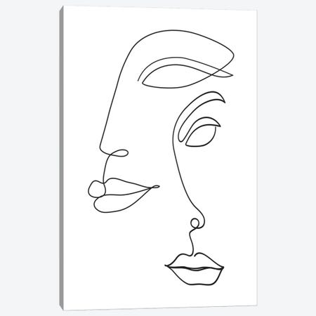 Two Faced Canvas Print #HON357} by Honeymoon Hotel Art Print