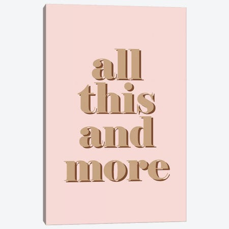 All This And More Canvas Print #HON358} by Honeymoon Hotel Canvas Art