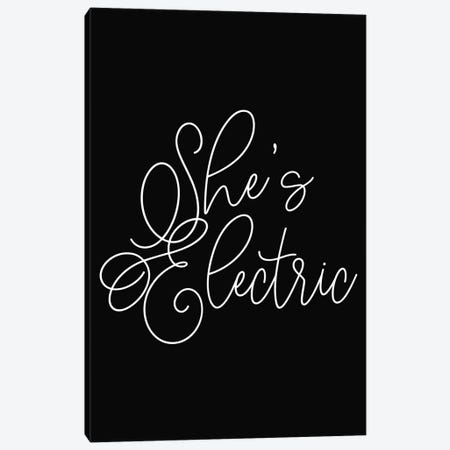 She's Electric Canvas Print #HON374} by Honeymoon Hotel Canvas Art Print