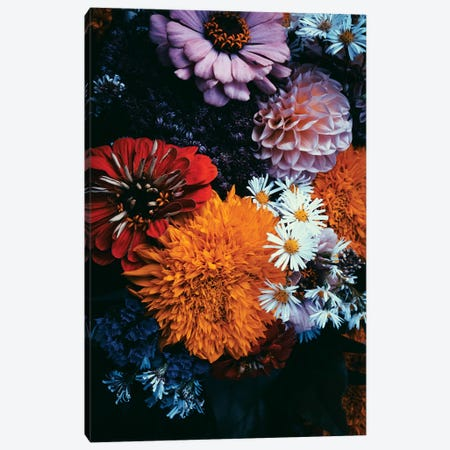 Dark Florals Canvas Print #HON382} by Honeymoon Hotel Canvas Art Print