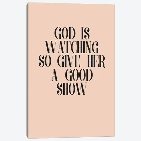 God Is Watching Canvas Print #HON390} by Honeymoon Hotel Canvas Wall Art