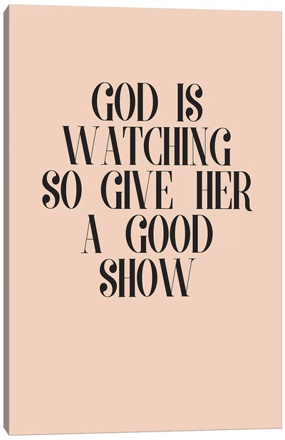 God Is Watching Canvas Art Print