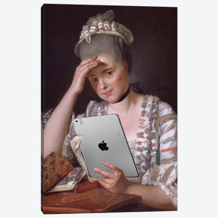 Madame François Buron Canvas Print #HON434} by Honeymoon Hotel Canvas Artwork