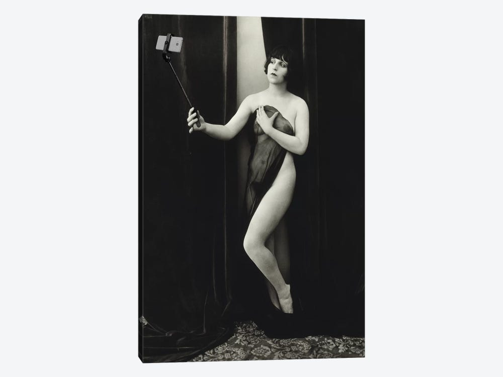 Selfie Stick by Honeymoon Hotel 1-piece Canvas Art Print