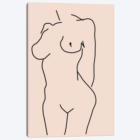 Nude II Canvas Print #HON454} by Honeymoon Hotel Canvas Artwork