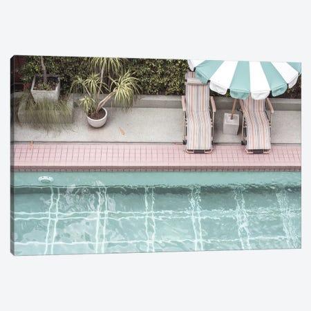 Pool Side Canvas Print #HON459} by Honeymoon Hotel Canvas Print