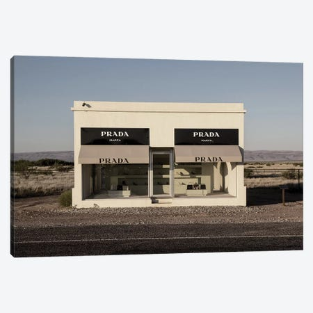 Prada Marfa Canvas Print #HON463} by Honeymoon Hotel Canvas Artwork