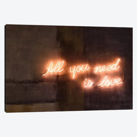 All You Need Is Love Canvas Print #HON466} by Honeymoon Hotel Canvas Art Print