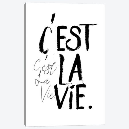 C'est la Vie Canvas Print #HON49} by Honeymoon Hotel Canvas Art