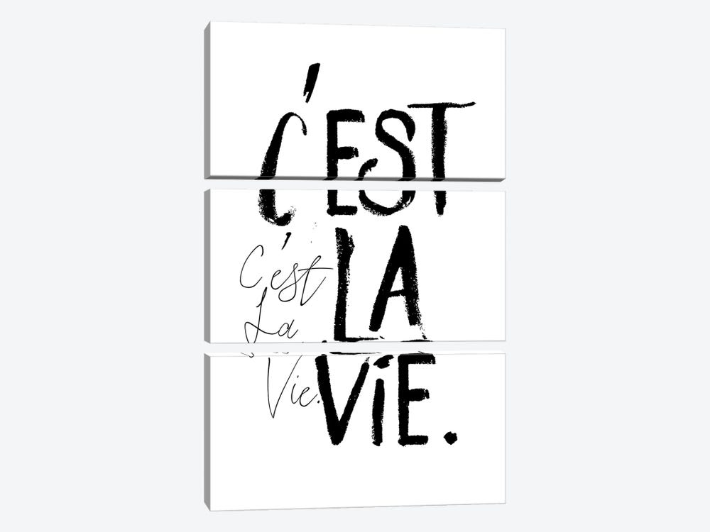 C'est la Vie by Honeymoon Hotel 3-piece Canvas Print