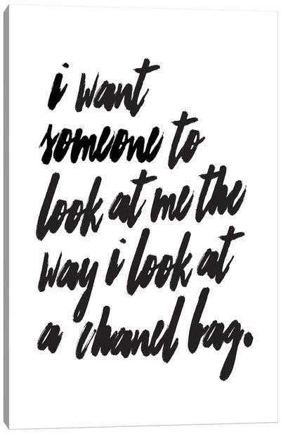 Chanel Bag Canvas Art Print