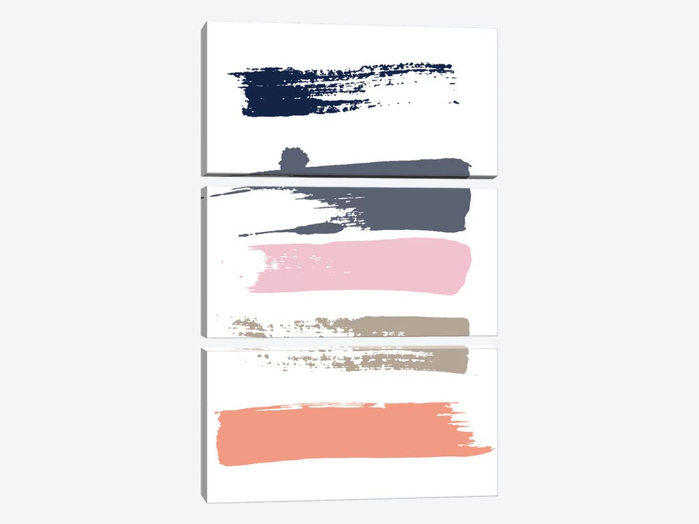 Color Swatches VI by Honeymoon Hotel 3-piece Canvas Art