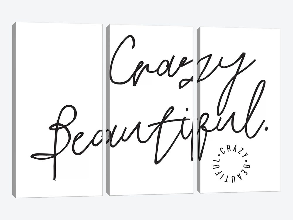 Crazy Beautiful. 3-piece Canvas Art Print