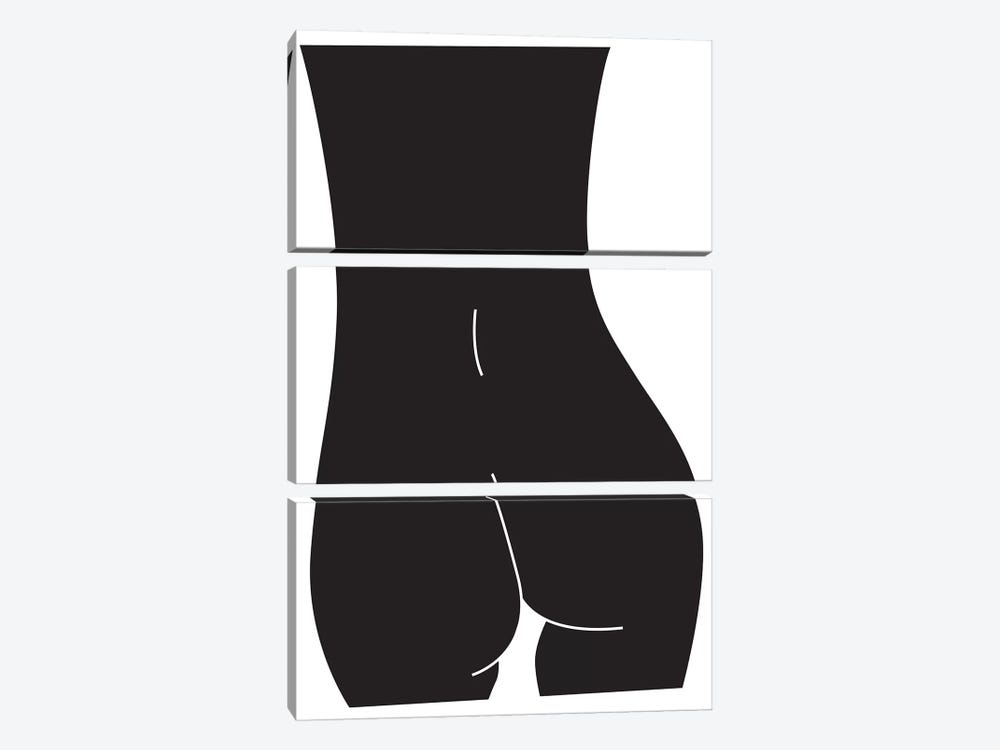 Derriere (Black) by Honeymoon Hotel 3-piece Canvas Art Print