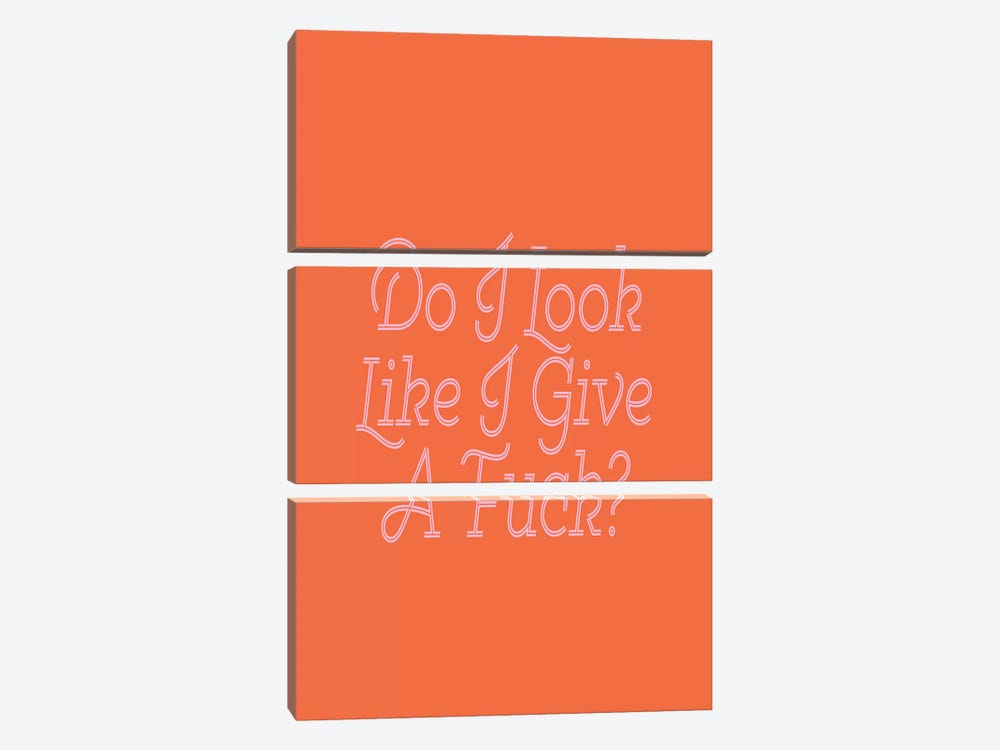 Do I Look Like I Give A Fuck by Honeymoon Hotel 3-piece Art Print