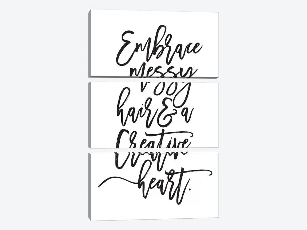 Embrace Messy Hair… by Honeymoon Hotel 3-piece Canvas Art Print